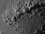 Montes Apenninus showing Mount Hadley and Hadley Rille. Apollo 15 landing site.