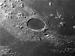 Crater Plato showing craterlets