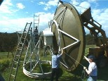 Removing the Dish from the support for repairs