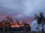 Mt Stromlo sunset 2017 (echoes of 2003)