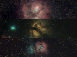 Collage of two months in Astrophotography