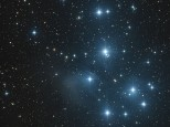 Pleiades or M45 is an open star cluster in the constellation of Taurus. Taken at the 2013 ASV Christmas star party.