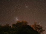 Small and Large Magellanic clouds taken with Canon EOS 400 DSLR.