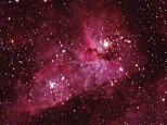 "Eta carina nebula thru a 10"" LX600 scope. 30 sec exposure with Canon 1200d modified."