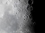 "Moon through a 10"" Dobsonian telescope using x2 barlow and sony a5000 camera"