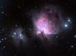 Nebulae in Orion, M42/3 and the Running Man