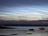 Night-Shining (Noctilucent) Clouds over the Firth of Forth: Bo'ness, Scotland, 6/7/2004